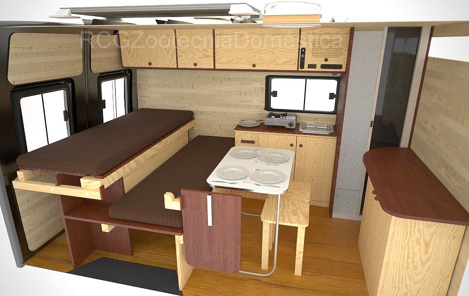 Furgo camper sofacama deslizante y cabina ducha