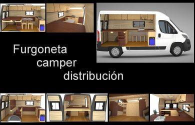 furgoneta camper distribución