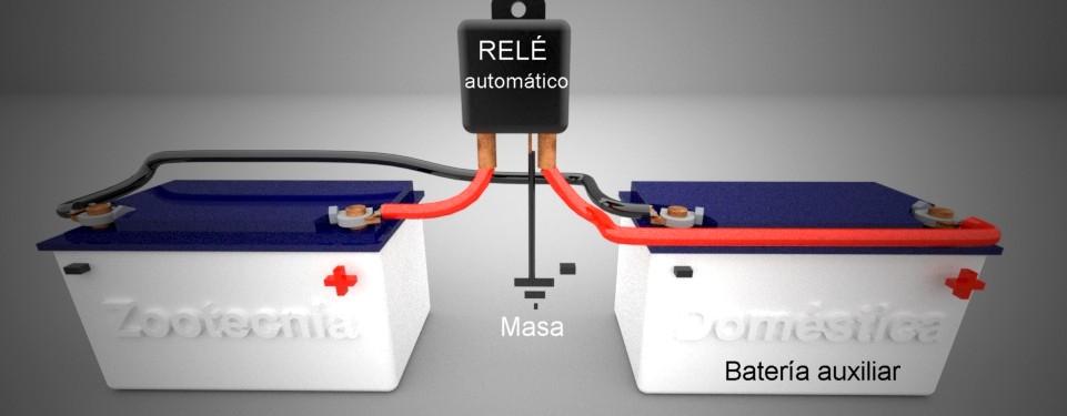 Relé automático separador baterías camper