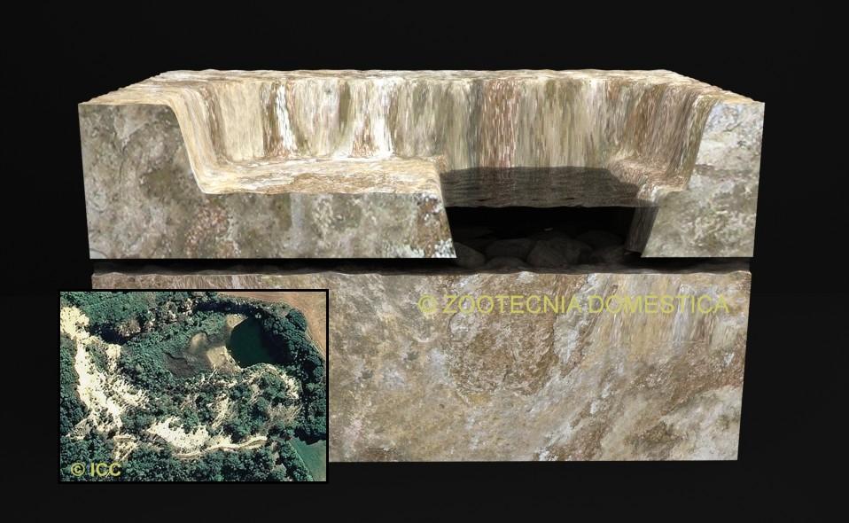 Perfil geológico guixera en sequía