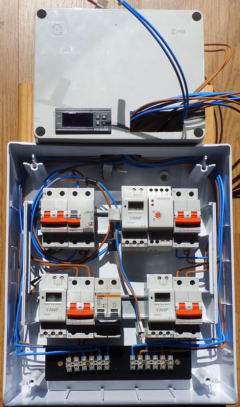 Mecanizado cuadro termostato ITC 1000