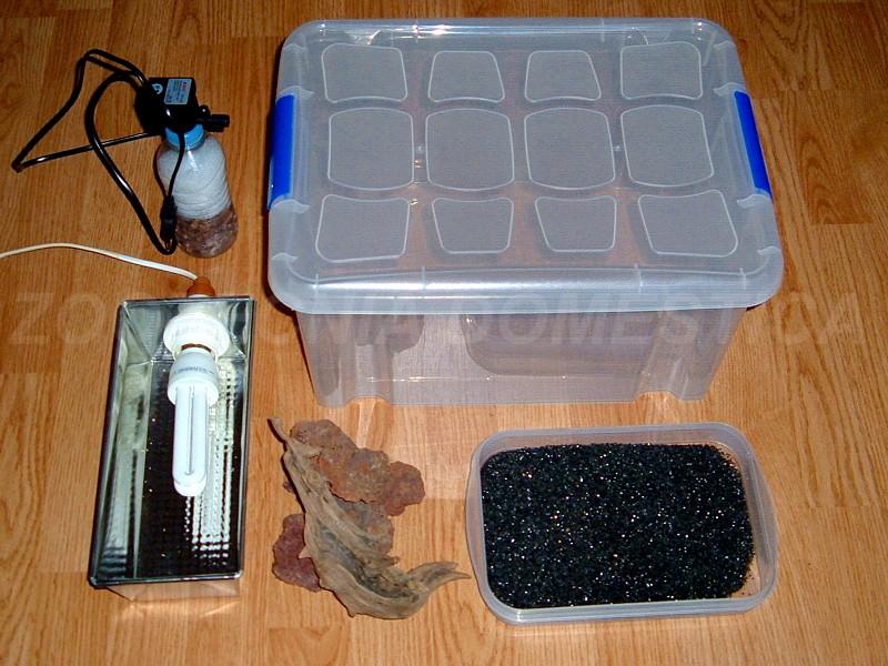 Acuario con caja ordenación | Zootecniadomestica.com