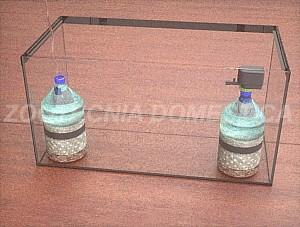 Filtro de caja, esquina con botella aire / bomba