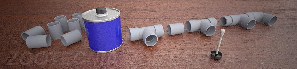 Filtro de fondo con PVC