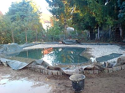 Construcción estanque lona