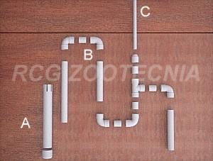 Sifón seguridad PVC, despiece