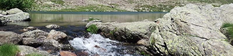 Rebosador del lago Tristaina (Andorra)