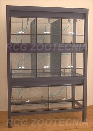 Vista frontal batería acuaterrarios