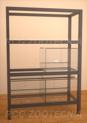 Batería terrarios vidrio