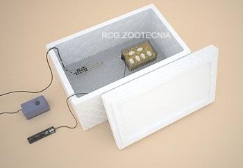 Incubadora en porex con termostato calentador de acuario