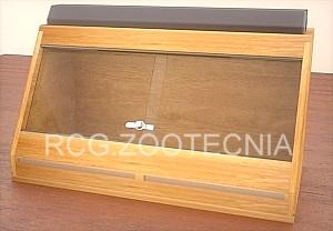 Terrario madera exposición