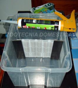 Sump con cajas plásticas