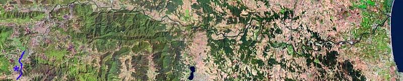 Situación Valle de Bas. Ortofoto ICC