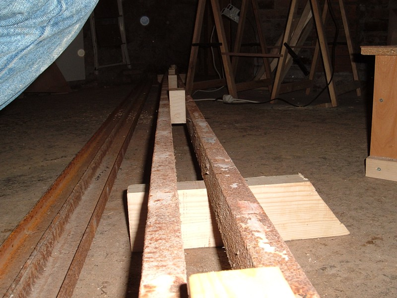 Construir velero. Estructura de soporte