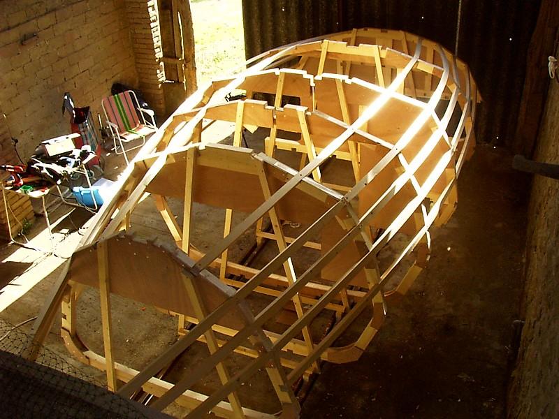 Construir velero. Armado costillas