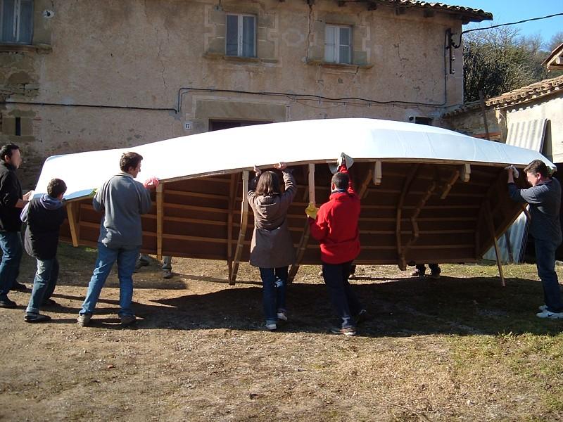 Construir un velero. Volteado
