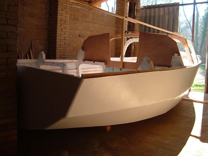 Construir velero. Obra muerta
