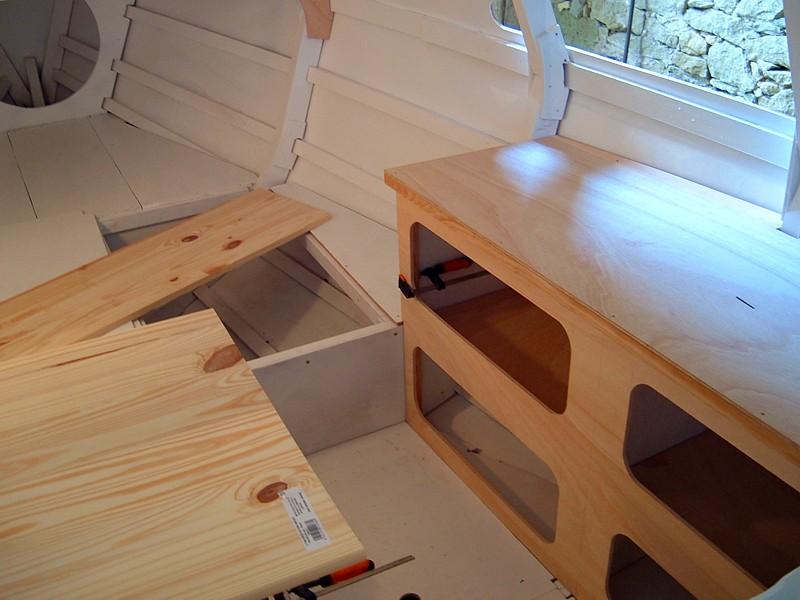 Construir velero. Camarote