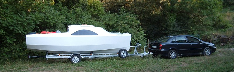 Construir velero. Transporte