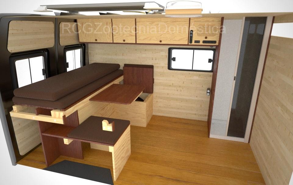 Camper cama extensible mas mesa extensible