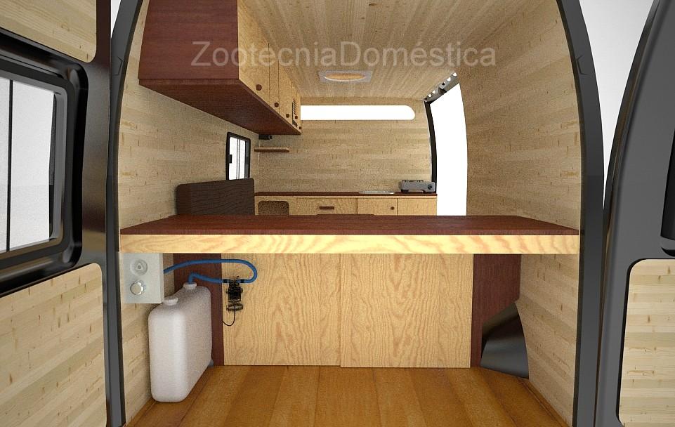 Ducha camper con instalación