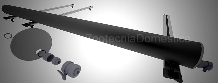 Ducha solar camper tubo baca