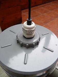 Filtro exterior PVC, prensaestopa