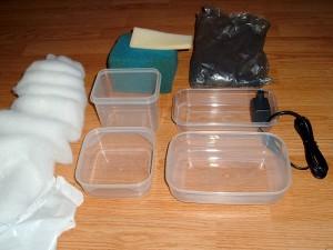Componentes filtro interno casero