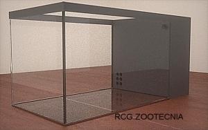 Acuario con filtro de laberinto