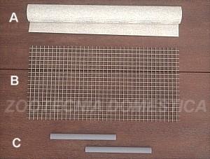 Componentes filtro de fondo con rejilla