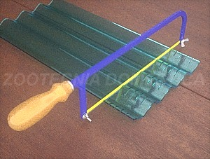 Filtro gravas con placa ondulada