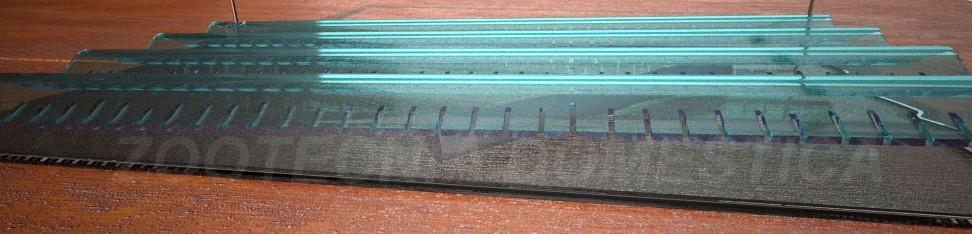 Filtro de fondo con placa ondulada
