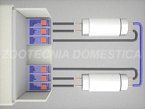 Doble T5, reactancia electromagnética