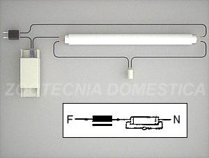 Fluorescente simple, electromagnética