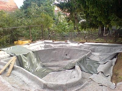 Construir estanque lona