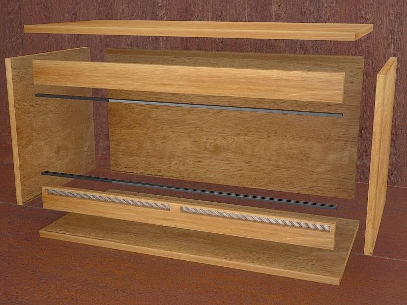 Terrario madera, montaje