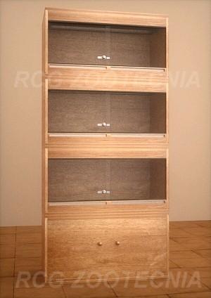 Batería terrarios madera