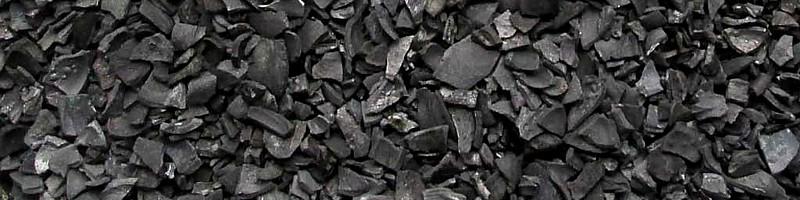 Carbón activo en escama