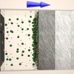 Materia filtrante colapsada