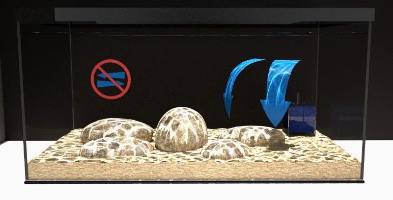Recirculación acuario con filtro de caja