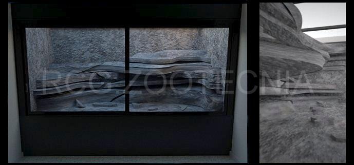 Terrario rocoso en resina