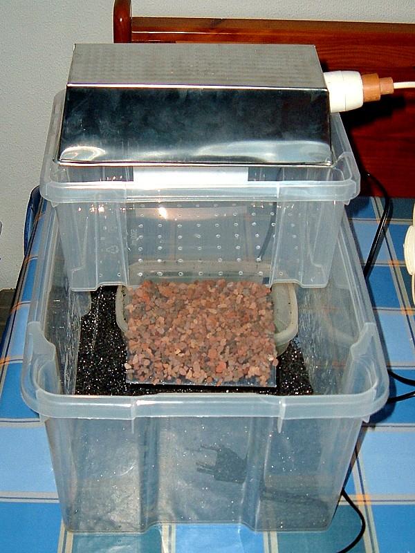 Tortuguera con cajas de ordenación