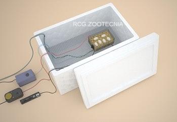Incubadora porex con termostato y sonda, calefacción por cable