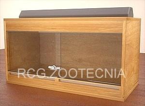 Terrario doble cubo madera