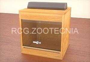 Terrario madera cúbico